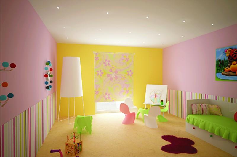 Dětský pokoj 2, vila u Plzně, 2012